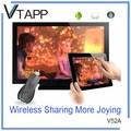 الساخنة بيع المنتجات الجديدة vtapp v52a ezcast 4.2 عرض لاسلكية الروبوت كاميرا التلفزيون مربع مع سكايب