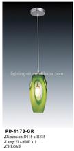 Green fashion pendant lights/indoor pendant lighting PD-1173-GR