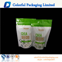 stand up pouch with zip lock/transparent bag/seeds packing bag