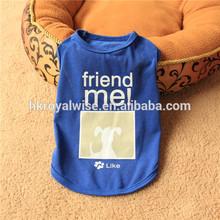 Wholesale Custom Print Logo Summer Dog Clothes, Pet T Shirt Manufacturer