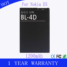 Factory wholesales Li-ion battery 3.7v 1200mah mobile battery bl-4d for nokia n8 n97 Akku Accu