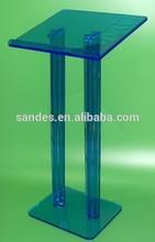 Green Knocked-down High Grade Organic Glass Podium Pulpit