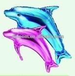 custom multicolor dolphin with size foil balloon