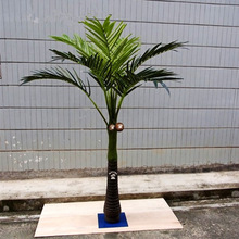 Q080522 make artificial areca palm tree ornamental plants decoration artificial areca bonsai tree