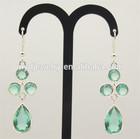 2014 Fashion Green Crystal Diamond Drop Earrings