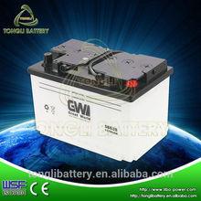 dry charged akumulator 12v 66ah 56638 lead acid car battery