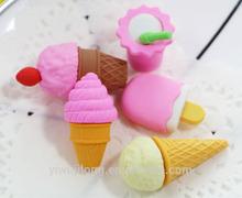 Wholesale China cool summer ice cream series school eraser good for school