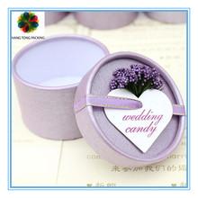 Fancy round sweet cardboard packaging box for sale