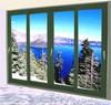 Decoration home pvc sliding glass window