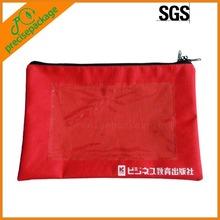 high quality nylon zipper closure document pouch