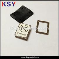 High quality Custom clothing 3d small metal logo