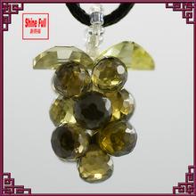 CZ peridot beadwork pendant