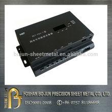 High precision white printed black powder coated sheet metal