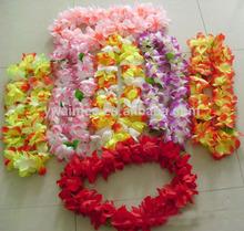 2014 Yiwu Aimee hotsale hawaiian silk flower leis ,hawaii flowers necklace(AM-HW01)