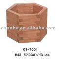hexagonal de madera barril