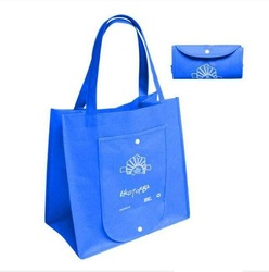 Popular cheap nylon foldable shopping bag with handle,easy carry and use, OEM orders are welcome