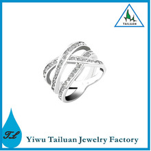 Factory Direct Selling Silver Cross Fashion Ring