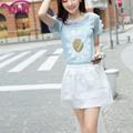 2014 venda superior saia branca foto de vestido curto