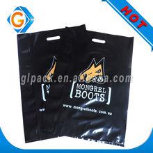 Die-Cut Printed Plastic Retail Shopping Bags/ handle bag (LDPE)
