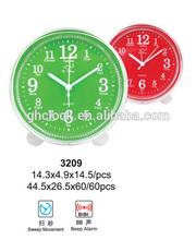 Plastic Promotional cheap alarm table desk clock