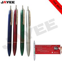 Promotional metal banner pen, full metal banner pen, logo metal banner pen