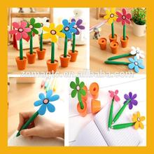 Fashion Design Potted Flower Pen