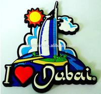 TOURIST SOUVENIR I love DUBAI United Arab Emirates Rubber 3D FRIDGE MAGNET