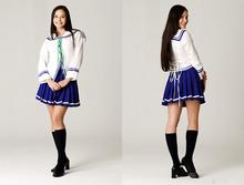 2014 temptation sexy lingerie lovely ladies Wholesale Blue sailor Costume Dress School uniform Outfit #12 for party