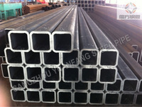 erw black steel square 40*40 pipe, material specification steel tube
