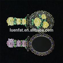 Toptan el aynası düğün hediyesi, moda yeni Retro bronz ayna