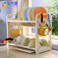 Mueble de cocina de plástico plato de secado estante de la cocina comedor libre de pie botella de vino rack dq-1301