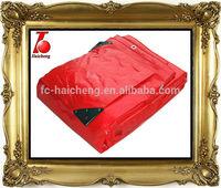 Red Waterproof Camping PE Tarps,Truck Tarpaulin, red plastic raw material poly tarps