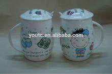custom creative shape lovers coffee mug with lid