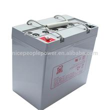 AGM lead 12volt sealed acid battery for solar UPS/EPS 12V 50AH