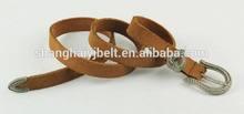 fashion women skinny leather belt buckle YJ-E0056