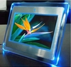Motion Sensor Acrylic led photo frame with blue light video