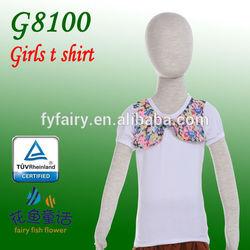 2014 wholesale newest style long sleeve girls t shirts korea