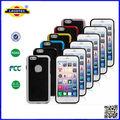 slim estilo de parachoques de goma gel caso de la piel cubierta para el iphone 6 teléfono móvil