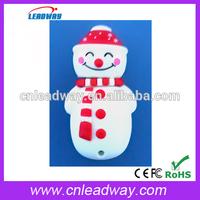 snowman memory stick bulk cheap usb drive mini pen drive key chains for Christmas gif with logo print 1GB 2GB 4GB 8GB 16GB 32GB