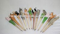 2014 creative animal carve ball pen for advertising gift