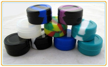 Newest and Colorful low price silicone container non stick silicone jars, dab wax container,best quality silicone dab container