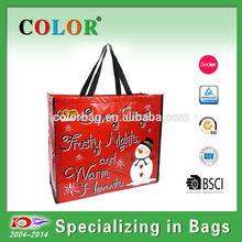 Waterproof cheap pp non woven shopping bag for christmas