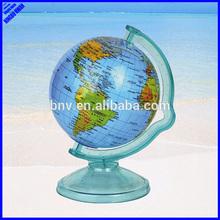 Quality 106mm plastic rotating mini world globe