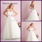 Gorgeous A-line One-Shoulder Organza Flower waist Wedding Dress Luxury