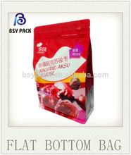 side gusset flat bottom bag/beef bag