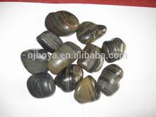 stripe paving polished pebble stones, tiger skin pebbles, cobbles