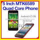Exw Price! 5'' Android 4.2 MTK6589 RAM 1G/8G dual sim mini phones