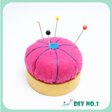 Original Orange felt Wool Filled pin cushion