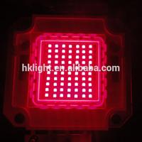 China Factory Epistar Bridgelux 45mil 35 mil 70w 14v 20v Red High Power LED 620nm 630nm 650nm 660nm