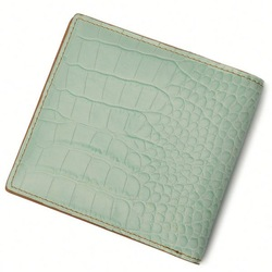 light green crocodile bifold pu boys wallets